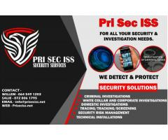 PRI SEC ISS Private Investigations/ Security Risk Assessment/ Technical Installations