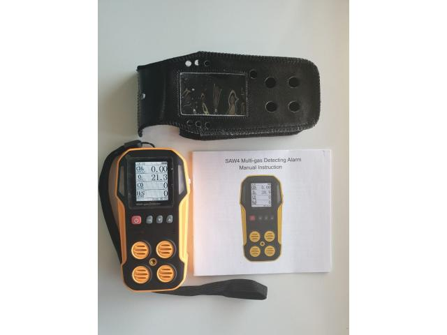 Gas testing equipment for confined spaces, carbon dioxide, oxygen, sulfur dioxide methane - 1/3