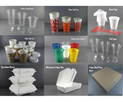 Disposal Cups and Take away Boxes