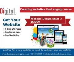 Web Design from R3000 | Website Design Pretoria, Website Design Midrand