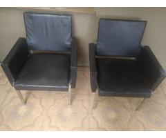 2 customized Dining Leather chairs