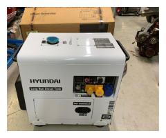 Portable Hyundai 7.5kVA Silent Diesel Generator DHY8000SELR