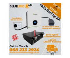 Solar back up Combo with 4.8 kwh lithium-ion battery