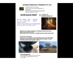 Iscor Black Bitumen Paint 210l drum