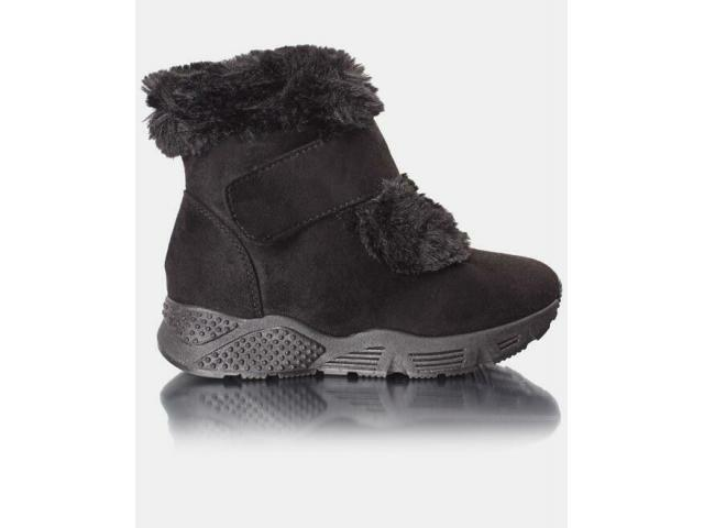 Velcro Strap Ankle Boots - 1/4