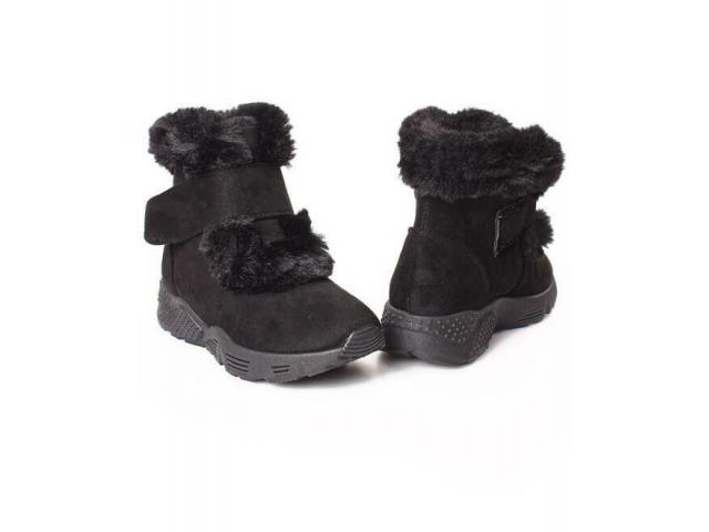 Velcro Strap Ankle Boots - 2/4