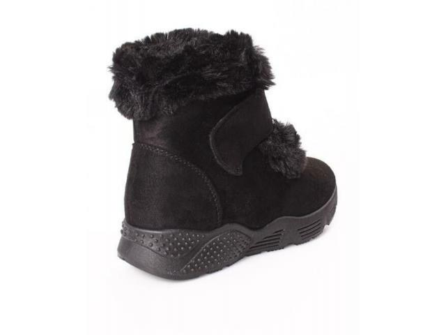 Velcro Strap Ankle Boots - 3/4