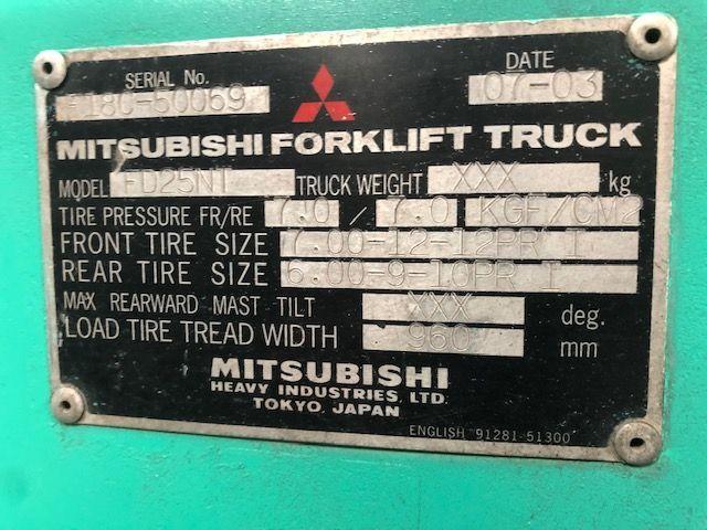 Mitsubishi 2.5 ton forklift - 4/4