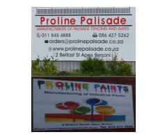 Manufacturers of Palisade Fencing, Gates, Industrial Paints