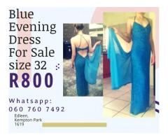 Blue Evening Dress For Sale R800