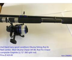 New and very good 2nd hand fishing tackle