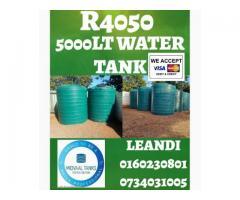 Back Up Water Storage Tanks 5000lt for R4050.00
