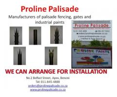 Steel Palisade Fencing, Gates and Paint Manufacturers - Apex, Benoni