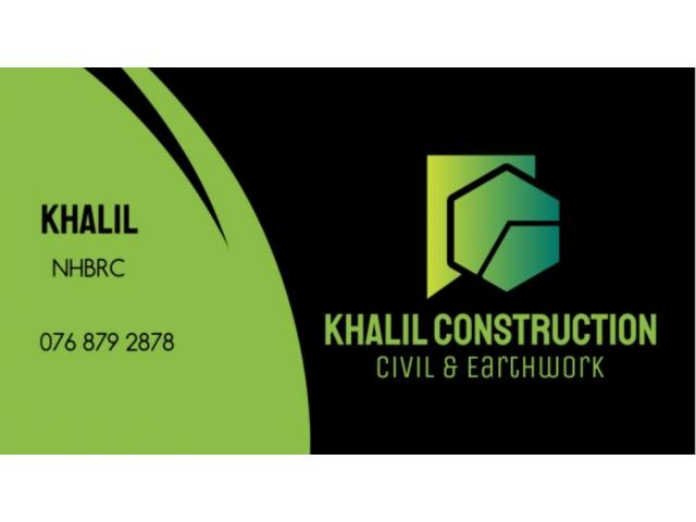 Khalil Construction Civil and Earthworks | Repair and Renovate - 1/1