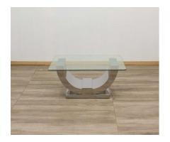 Buy a Glass Coffee Table – Split Monaco – Stainless Steel