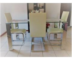 Good quality and stylish dining furniture in solid condition!