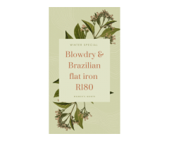 Blowdry and Brazillian Flat ironing hair