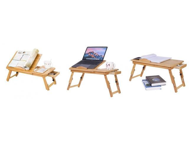 Wooden Laptop Desk - 3/4