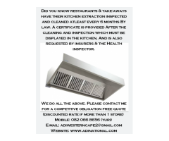 Restaurant kitchen extraction cleaning done every 6 months by law