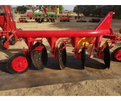 NEW 4 Disc pipe plough