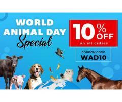 World Animal Day SALES + 10% OFF at BudgetPetSupplies