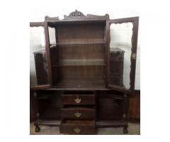 Imbuia wood display cabinet