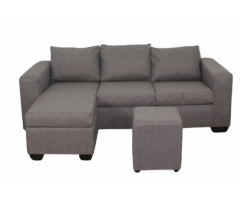 Buy Andre 3 Seater Sofa - L Shape - Grey | HG BAVA