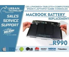 Macbook battery replacements