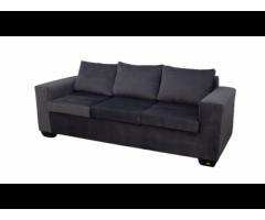Buy Jody 3 Seater Sofa - Grey - Velvet | HG BAVA CC