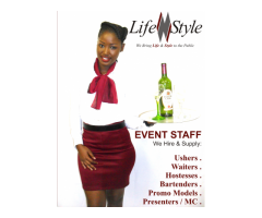 Event Hostesses, Ushers, Bartenders and Promotion Staff