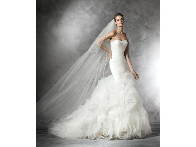 Pronovias Feather Dress