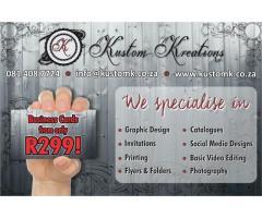 Graphic Design, Invitations, Printing and more!