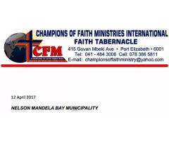 CHAMPIONS OF FAITH MINISTRY.